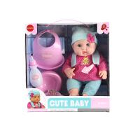 会说话的仿真智能洋娃娃玩具婴儿软硅胶宝宝女孩过家家陪睡喝水尿 38厘米彩盒包装