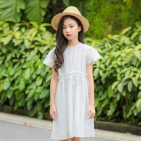 2019 女童公主连衣裙夏季中大童韩版蕾丝拼接童裙新款