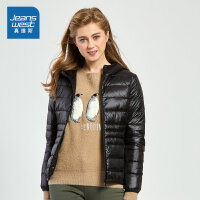 [满减参考价:89.4元,狂欢返场/仅限12.13-16]真维斯女装 冬装 连帽轻薄羽绒外套