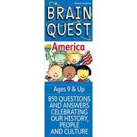 少儿智力开发系列:关于美国【现货】英文原版童书Brain Quest America关于美国 9岁以上 益智启蒙 卡片