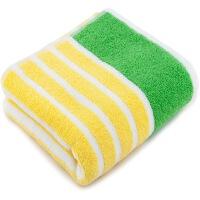 三利 纯棉彩条大面巾 洗脸毛巾单条装
