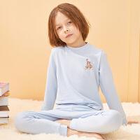 【2件3折:59】巴拉巴拉旗下巴帝巴帝儿童家居服新款冬季棉睡衣中大童套装打底衫男舒适女