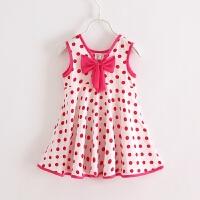 童装婴儿装夏装女童绵绸无袖背心连衣裙宝宝家居服睡裙