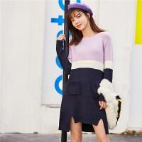 【限时秒杀价:183】韩版宽松毛衣女季新款百搭潮流学生长袖毛针织衫纯色上衣女