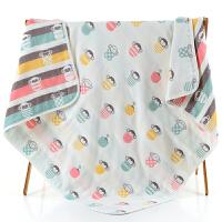 纯棉六层纱布被新生婴儿浴巾毛巾被儿童春夏秋冬盖毯