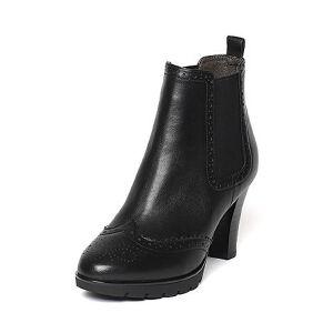 【百丽集团夏季大促,5.28准时开抢】Belle/百丽冬专柜同款油皮牛皮女短靴BHX44DD6