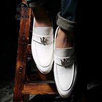 米乐猴 男士皮鞋铆钉亮皮尖头小皮鞋英伦潮鞋休闲鞋子发型师夜店影楼