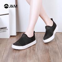 【低价秒杀】快乐玛丽春季新款平底套脚纯色舒适休闲鞋女鞋鞋子