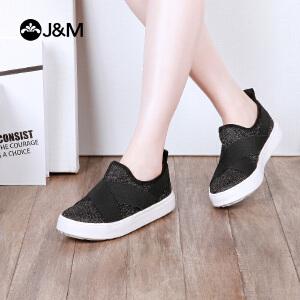 2018春季新款平底套脚纯色舒适休闲鞋女鞋鞋子83023W