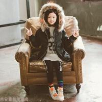 女童冬装中长款加厚棉衣外套2018新款女孩洋气韩版羽绒棉袄潮衣服