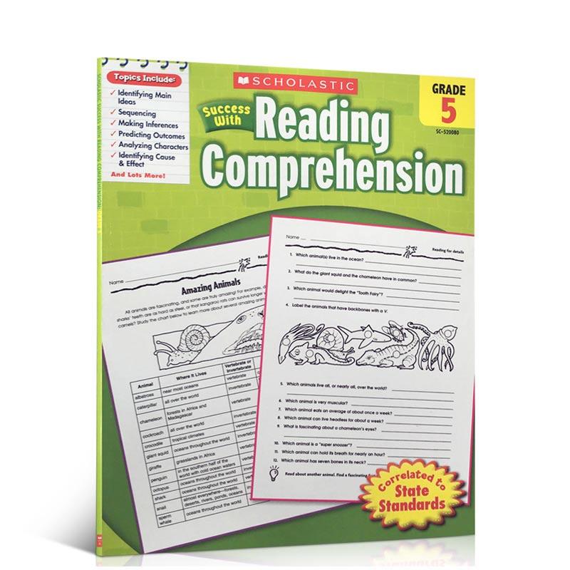 英文原版书Scholastic Success with Reading Comprehension Grade 5
