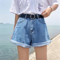 韩系女装新原宿风bf夏季女装新高腰大码宽松休闲阔腿裤短裤女