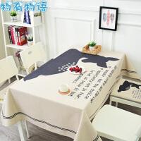 物有物语 桌布 时尚个性棉麻布艺加厚北欧餐厅长桌布茶几盖布小方桌布可水洗家用防滑防烫桌布