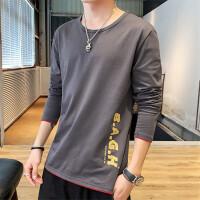 男士长袖t恤春秋季潮流韩版个性帅气打底衫圆领青少年学生小衫男