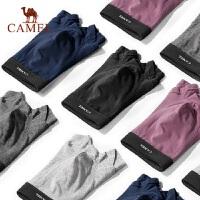 骆驼男士内裤青年透气吸湿潮流100%纯棉男平角裤4条装