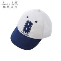 davebella戴维贝拉2018夏装新款鸭舌帽 宝宝棒球帽遮阳帽DB8294