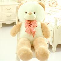 领结熊毛绒玩具泰迪熊熊猫公仔抱抱熊布娃娃玩偶送女生情人节礼物