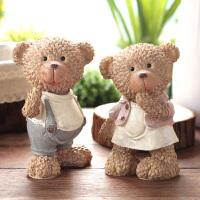 泰迪熊装饰品摆设客厅办公桌可爱工艺品结婚礼物树脂小熊摆件