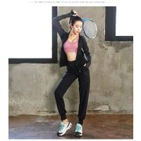 大码秋冬瑜伽服运动套装女胖mm200斤健身房跑步速干衣宽松两件套