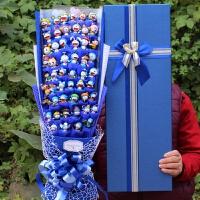 哈喽kt猫叮当猫小丸子蓝胖子花束卡通花束礼盒毕业圣诞节礼物礼品