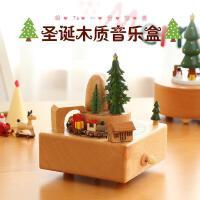 音乐盒 八音盒木质旋转木马音乐盒创意礼品生日礼物新年礼物送女友儿童学生元旦礼物