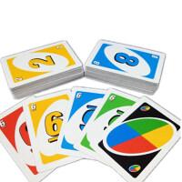 桌游UNO纸牌全套经典宽版水晶塑料休闲聚会游戏
