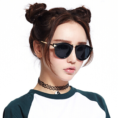 音米眼镜女偏光太阳镜 女潮圆脸 复古眼镜可配近视墨镜女长脸复古百搭 瘦脸修颜