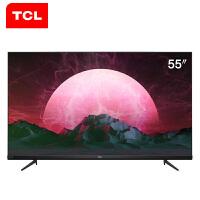TCL 55V6 55英寸液晶平板���C智能�W�jWIFI 4K超高清 全��AI 智能�Z音 智慧屏 超薄全面屏 8K解�a