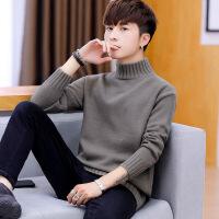 毛衣男士秋季2018新款韩版潮流宽松半高领线衣男秋冬装个性针织衫