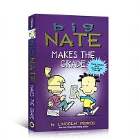 【全店300减100】英文原版 Big Nate Makes the Grade 捣蛋王考了一百分 9-12岁儿童英文绘
