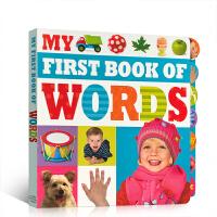 英文原版 My First Book Of Words儿童启蒙纸板单词词典书 0-3岁撕不烂书 亲子阅读 Make B