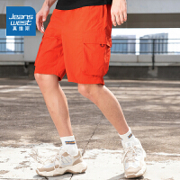 真维斯男装 夏装新款 时尚塔斯隆工装及膝短裤