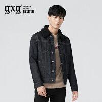 gxg.jeans男装冬季深蓝色夹克外套64621075