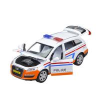 彩珀 儿童合金仿真汽车模型玩具车宝马X6警车 2-6岁