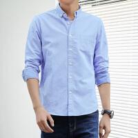 Lee Cooper新款衬衫男长袖春季韩版潮流休闲帅气大码纯棉纯棉男士衬衣
