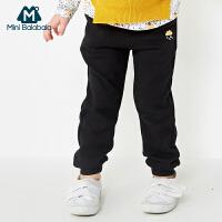 【2件5折】迷你巴拉巴拉童装儿童长裤女幼童休闲裤秋装新款宝宝长裤子
