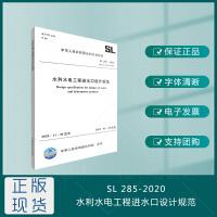 SL285-2020水利水电工程进水口设计规范 替代SL285-2003