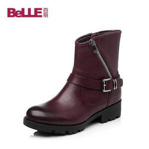 Belle/百丽专柜同款油蜡牛皮女靴BEXA8DZ5
