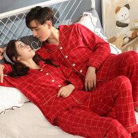 新婚情侣睡衣秋冬纯棉长袖本命年猪年红色婚庆结婚男女家居服套装
