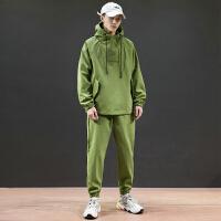 男装2019新款秋季男休闲运动套装男潮流帅气外套学生卫衣两件套
