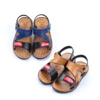 童鞋男童凉鞋新款夏季儿童小中大童男童露趾沙滩鞋