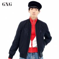 GXG夹克男装 秋季男士修身潮流青年时尚休闲都市流行藏青色夹克男