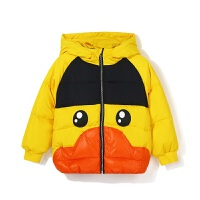 【4折�r:247.6元】B.duck小�S��童�b�和�羽�q服女童冬�b新款男童白���q保暖外套BF5016912