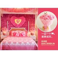 结婚台灯婚房床头灯粉红色创意礼物婚庆浪漫玫瑰花灯长明灯