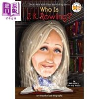 【中商原版】Who is 系列 谁是J・K・罗琳 Who is J.K. Rowling 儿童人物传记文学 企鹅兰登出品