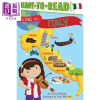【中商原版】Ready-To-Read系列 准备阅读2级意大利 Level 2 Livingin Italy 儿童分级阅