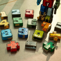 数字变形玩具金刚战队汽车合体机器人益智字母恐龙全套5男孩6岁4