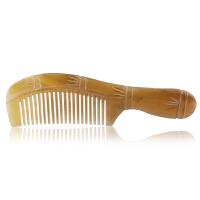 优家(UPLUS)密齿便携式牛角梳子(造型发梳 美发梳 木梳 减少静电)