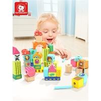 一两岁宝宝穿线儿童串珠智力玩具女孩穿珠子积木玩具1-2周岁3男孩