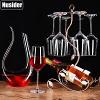 家用高脚葡萄酒杯醒酒器酒具杯架水晶红酒杯套装